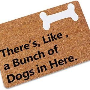 TLJYING Rubber Cute Dog Bone Household Floor Mat G
